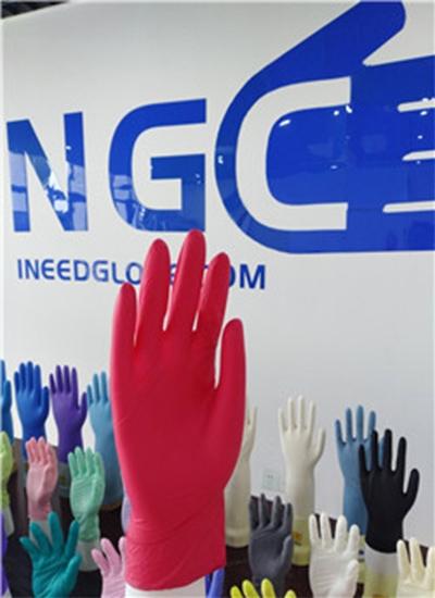 儿童专用红色丁腈手套